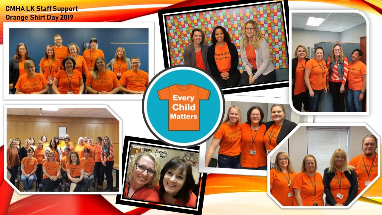 CMHA LK Staff Support Orange Shirt Day
